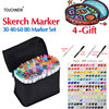 TOUCHNEW 168 Colors High Quality Art Markers Pen Set Dual Head Sketch Markers Pen For Drawing