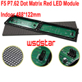 F5 P7.62 Dot Matrix Indoor Red LED Module 488*122mm 64*16pixels for text LED display Red monochrom dot matrix panel 30pcs/lot