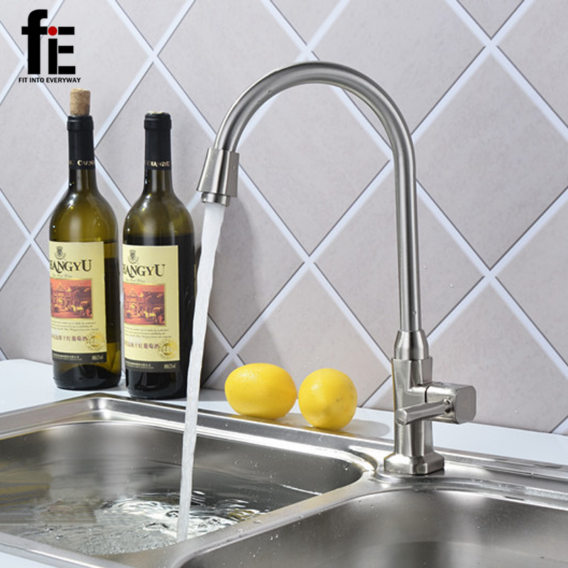 New Zinc Alloy Wire drawing Cold Chrome Plated Water Tap Basin Kitchen Taps Wash Basin Faucet