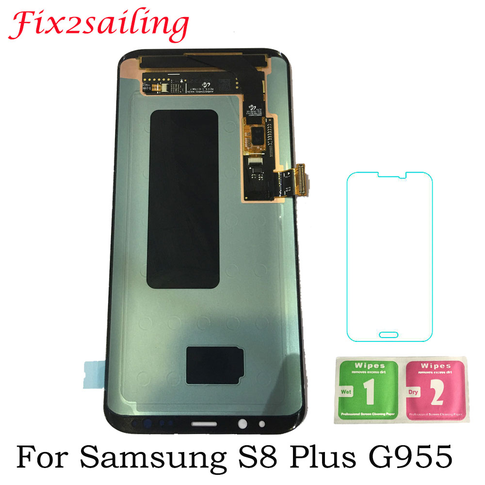 100% Tested LCDS For Samsung S8 Plus G955 G955F LCD Display + Touch Screen with Frame Digitizer Assembly Replacement Screen