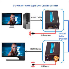 Tremendous High quality 1080P HDMI Extender 100m With IR Romote Management Over Coaxial Cable Wi-fi HDMI Transmitter Receiver Up To 330ft