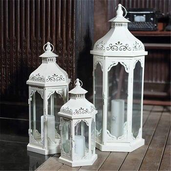 Europäischen Schmiedeeisen Großen Hohl Boden Winddicht Lampe Leuchter Hochzeit Hotel Home Garten Weichen Dekoration Ornamente