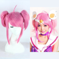 High Quality League of Legends Star Guardian LUX Female Women Cosplay Wig LoL Magic Girl Lolita Pink Heat Resistance Hair Wigs