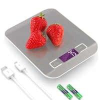 المحمولة USB LCD ميزان المطبخ الإلكترونية ميزان الطبخ قياس أدوات الرقمية الفولاذ المقاوم للصدأ الرقمية وزنها ميزان المطبخ