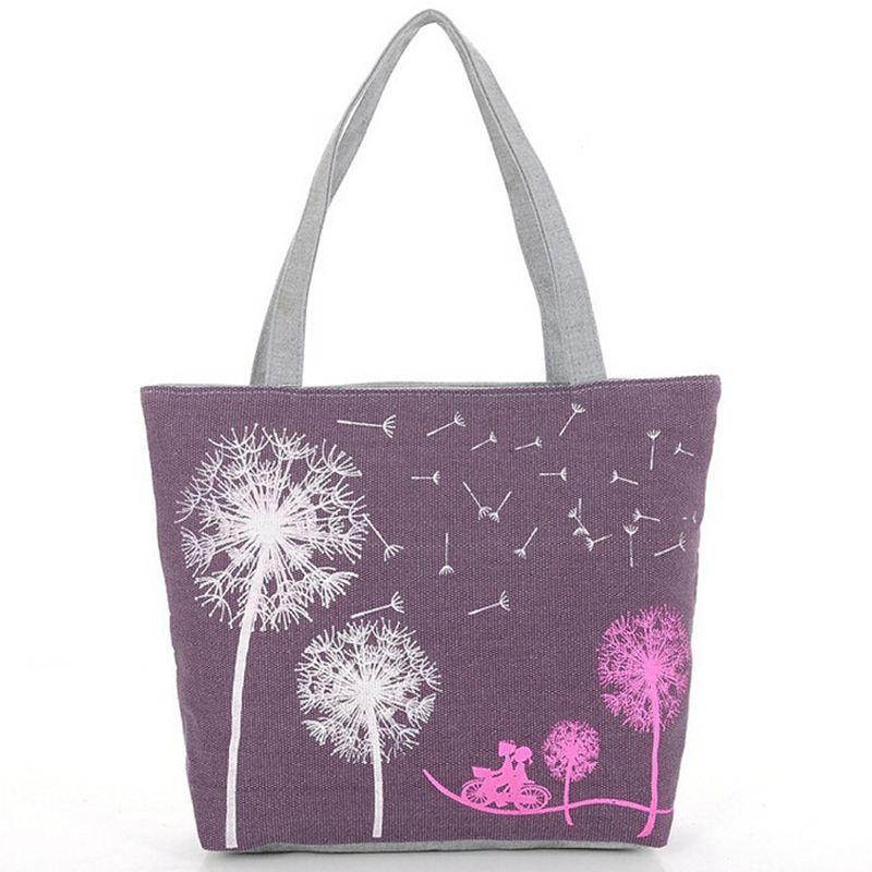Sale New 2017 Fashion  Dandelion Canvas Bag Flowers Women Handbag Shoulder Bags Women Messenger Bags   A40-123