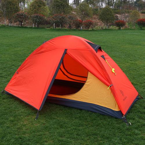 2018 Ultralight  aluminum poles waterproof  anti-UV 4 season tents high quality outdoor camping tent high quality outdoor 2 person camping tent double layer aluminum rod ultralight tent with snow skirt oneroad windsnow 2 plus