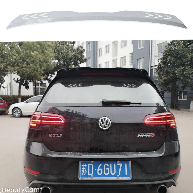 คุณภาพสูงสำหรับ Volkswagen Golf 7 VII 7.5 R R-LINE GTI สปอยเลอร์ 2014 2015 2016 2017 2018 2019 ด้านหลังหลังคา Golf สปอยเลอร์