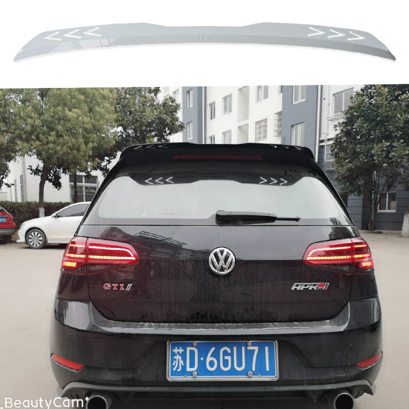 High quality For Volkswagen <font><b>Golf</b></font> <font><b>7</b></font> VII <font><b>7</b></font>.5 R R-LINE <font><b>GTI</b></font> Spoiler 2014 2015 2016 2017 2018 2019 rear window roof <font><b>Golf</b></font> Spoiler image