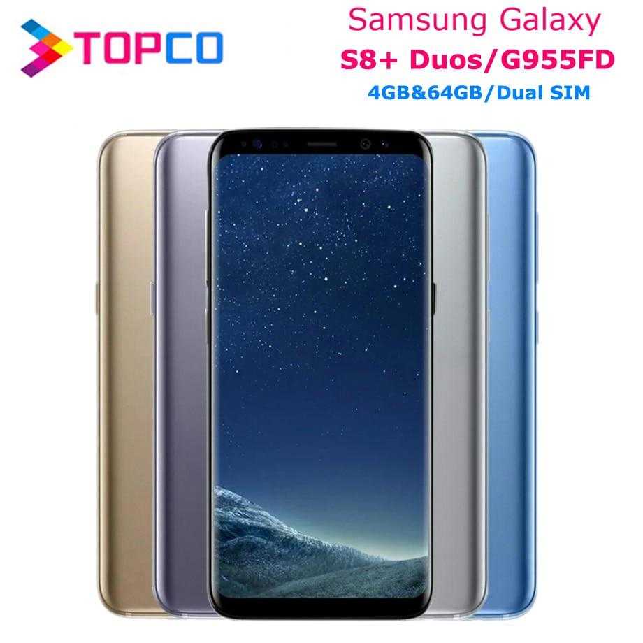 "Samsung Galaxy S8 + Duos S8 Plus Original Entsperrt G955FD LTE NFC Dual SIM Android Telefon Octa Core 6.2"" 12MP 4GB & 64GB NFC"