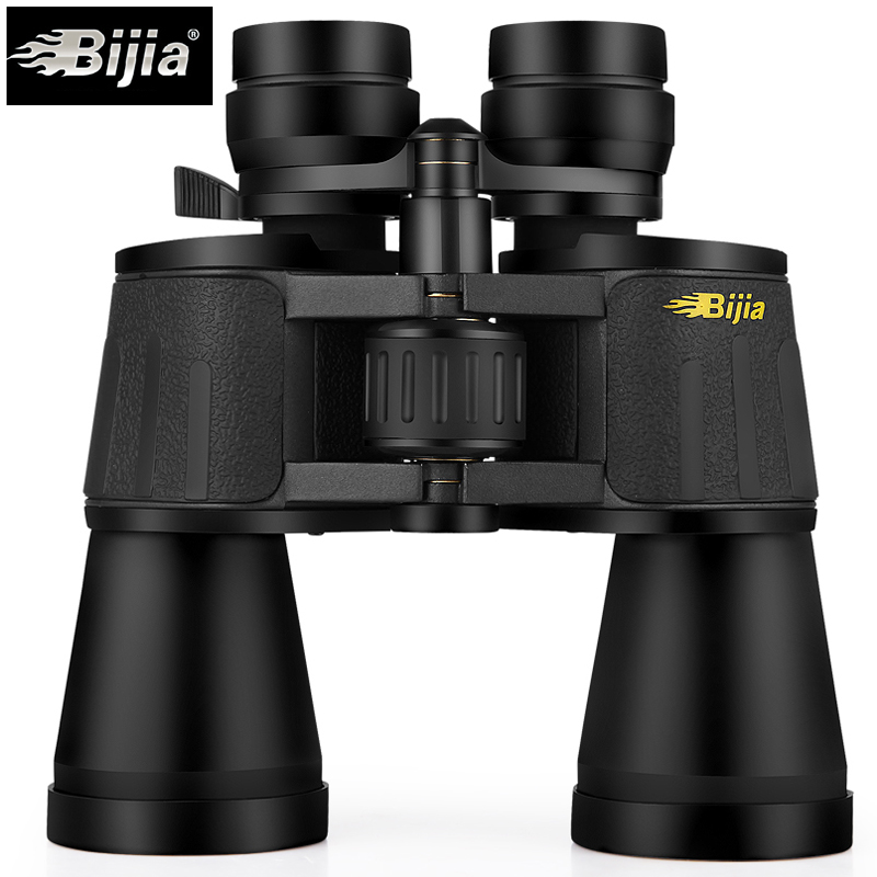 BIJIA 10 120X80 professional zoom optical hunting binoculars wide angle camping telescope with tripod interface