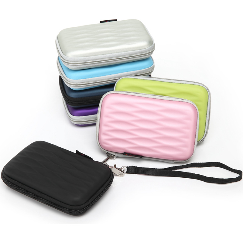 New for WD/Seagate/Samsung/Toshiba EVA waterproof shockproof mobile hard disk bag 2.5 inch digital mobile bag containing bag