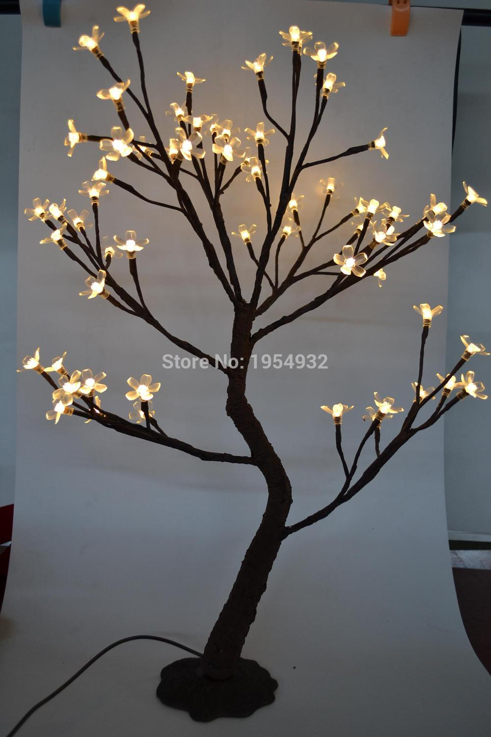Us 39 99 Indoor Outdoor 64 Led Cherry Blossom Tree Light In 70cm Height With Artifical Nature Trunk Treatment Resin Base 3m Lead Wire