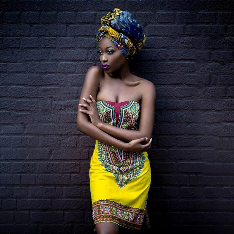 2019 African Dress For Women Dashiki Traditional Clothing Sexy Slim Wrapped Chest Skirt African National Dress Women's Clothing