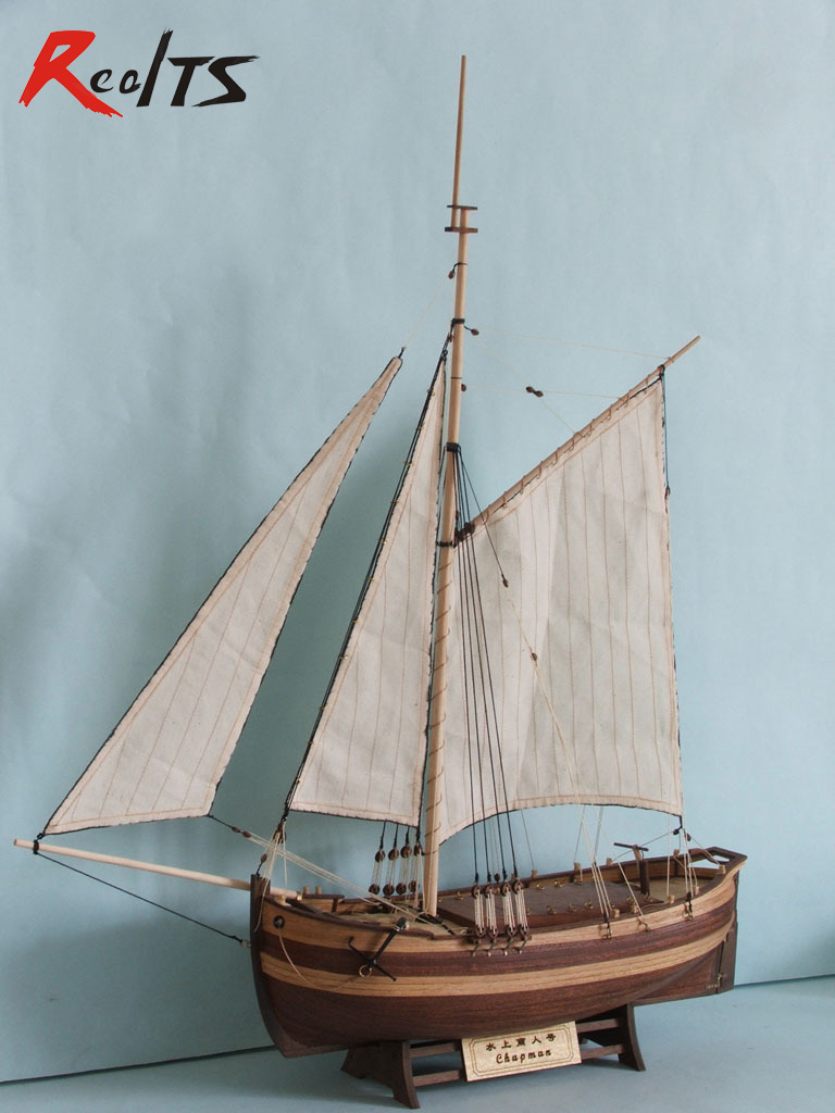RealTS Original classic wooden sailing boat model kit single mast 1/50 chapman sloop DIY model education toys realts scale 1 80 in 1934 america s cup sailing competition endeavour sail boat wooden model kit