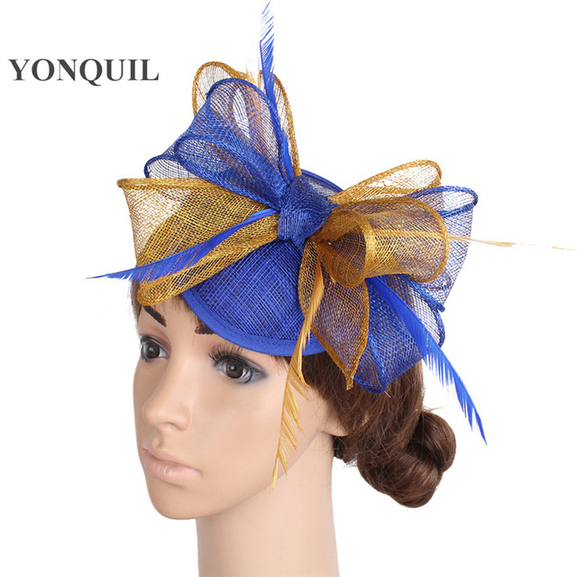 4657512eb2a Charming formal occasion feather pillbox hat ladies fashion fascinator  derby wedding hats high quality sinamay headdress 17color