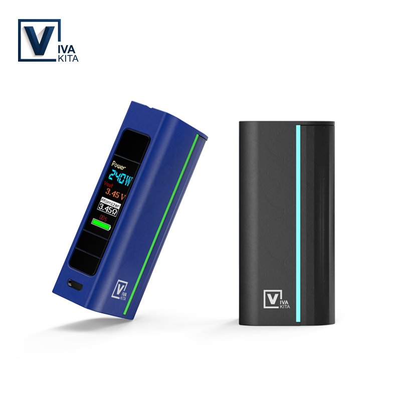 Vape Mod 80w Electronic Cigarette Vivakita Move Grand 80W Box Mod Fit Atomizer <font><b>510</b></font> Thread Tank power 18650 <font><b>Battery</b></font> mod image