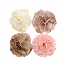 100pcs/lot 3'' Satin Burned Edge Flowers Fabric Mesh Flowers For Baby headband DIY Accessory цены онлайн