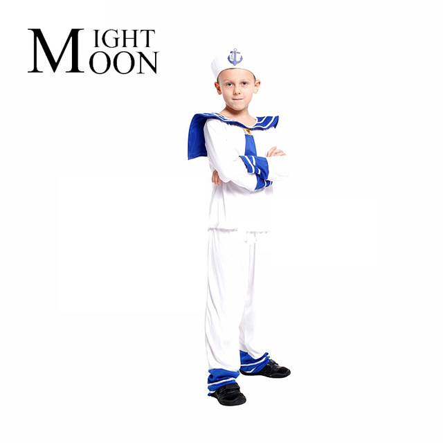 MOONIGHT Sailor Costume Halloween Costume For Kids Children Marine Costume Boy  sc 1 st  AliExpress.com & MOONIGHT Sailor Costume Halloween Costume For Kids Children Marine ...