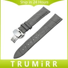 Натуральная кожа Ремешок Аллигатор для Зенит Moser Paul пико часы наручные ремешок Браслет серый 18 19 20 21 22 24 мм