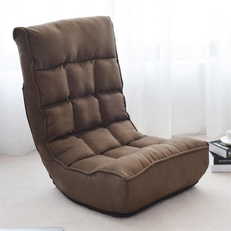 Cushion Floor-Chair Folding Lazy-Sofa Adjustable Comfortable 4-Position Sponge No HW58053