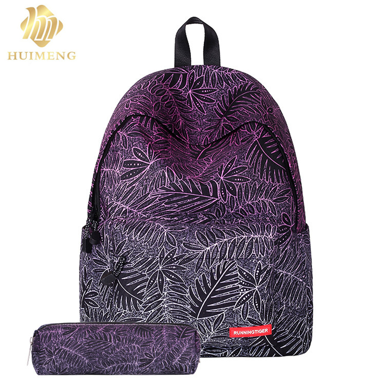 2017Fashion Floral Printing women canvas School Bags for Teenage Girls Lady Travel Backpacks Mochila Feminina Computer Backpacks high quality anime death note luminous printing backpack mochila canvas school women bags fashion backpacks for teenage girls