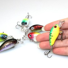 S Japan Mini Fishing Crankbait Lure Swim Fish Fishing Lure Artificial Hard Crank Bait Topwater Wobbler Fishing Tackle #D4