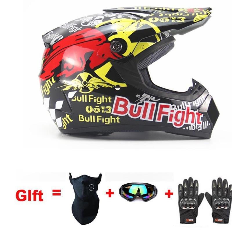 Кольцо Off Road ATV Крест Шлемы MTB DH Гонки мотоциклетный шлем Байк Capacete мотокросс шлем с перчатки подарок