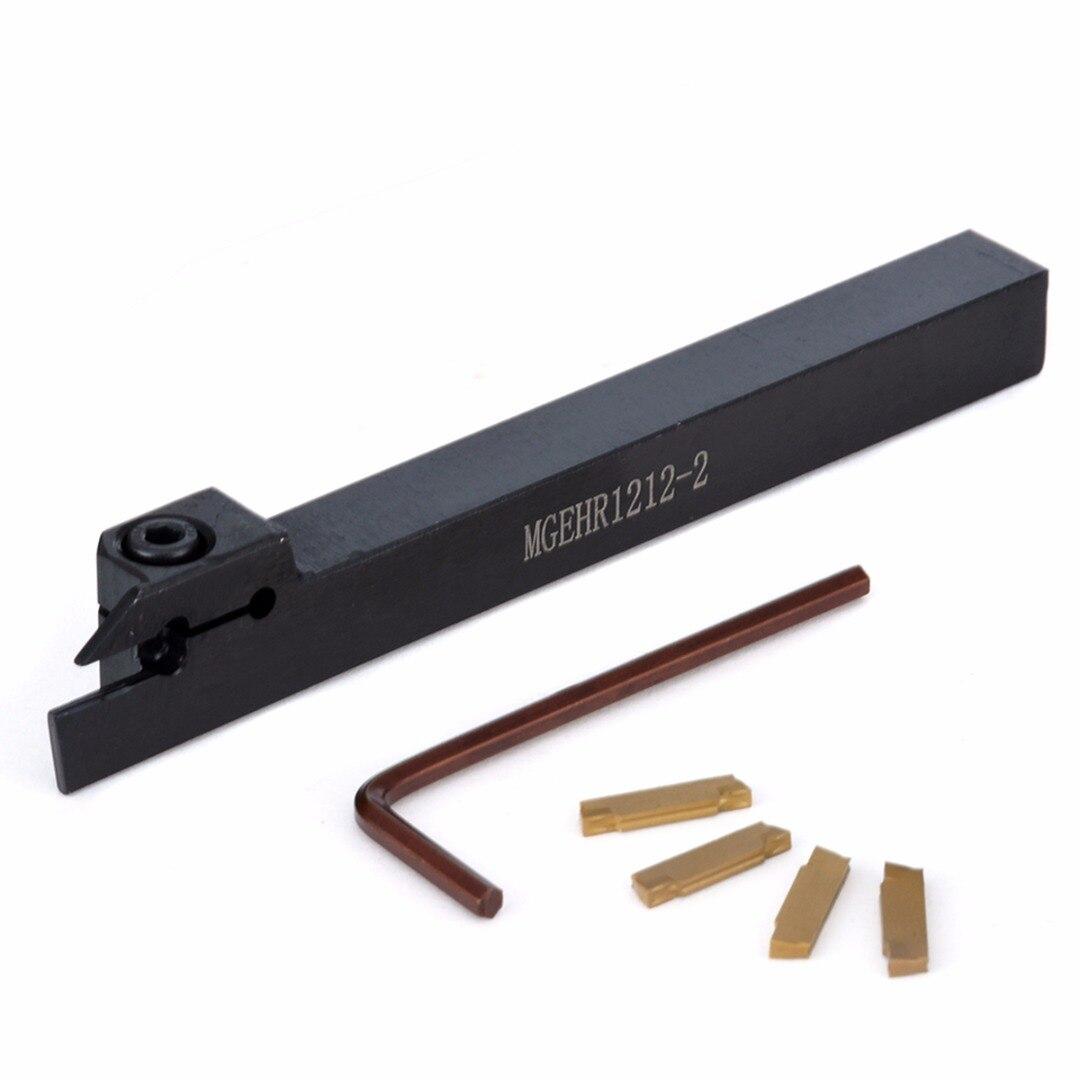 4 pz Nuovo MGMN200 Inserti In Metallo Duro + MGEHR1212-2 Titolare Boring Bar Tornitura Strumento con la Chiave