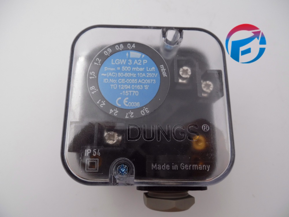 LGW3A2P Dungs Air Pressure Switch with test button For Burner New Arrival