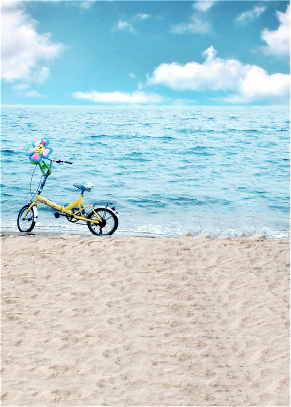 Sea Beach Photography Backdrops Children Photo Studio Photo Props Vinyl 5x7ft or 3x5ft Baby Background Blue Sky jiegq223
