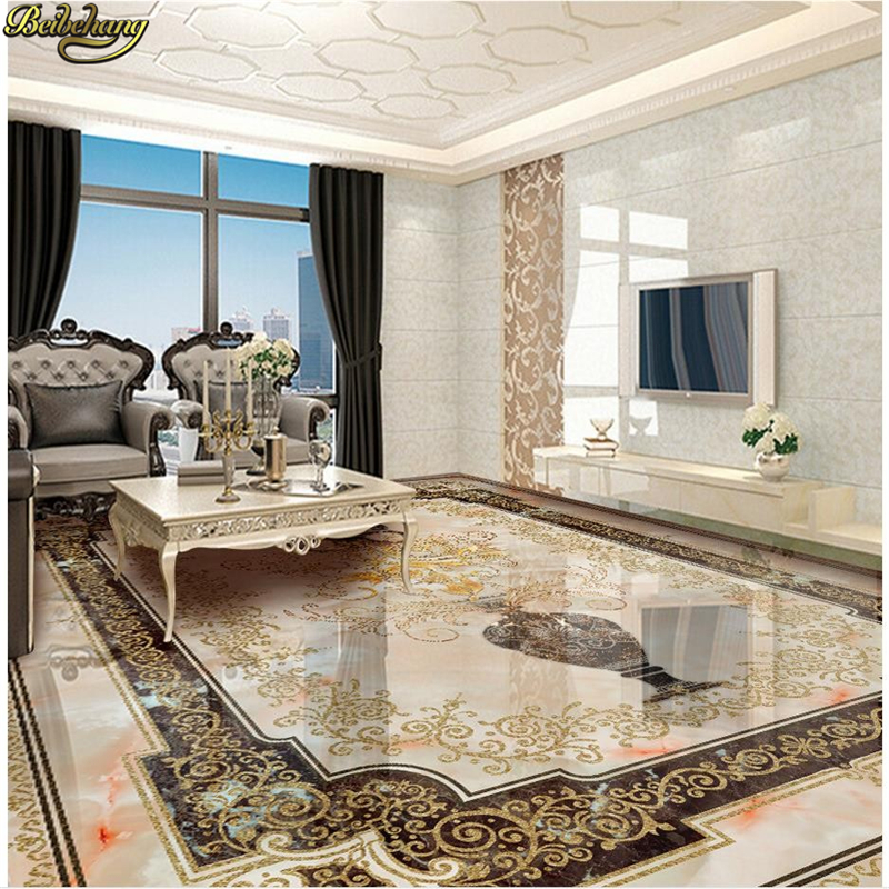 beibehang Custom Photo self-adhesive 3D floor marble 3D wall murals wallpaper floor Photo wallpaper mural floorHome Decoration free shipping custom self adhesive home decoration floor living room bedroom bathroom wallpaper mural dolphin ocean 3d floor