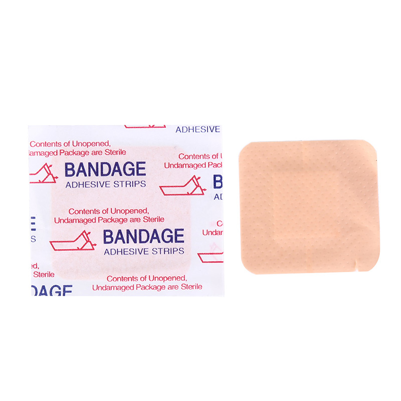 Home Energetic 10pcs Baby Care Waterproof Skin Color Square Band Aid Band Aid Adhesive Bandages For Outdoor Wound Closure Cheap Sales