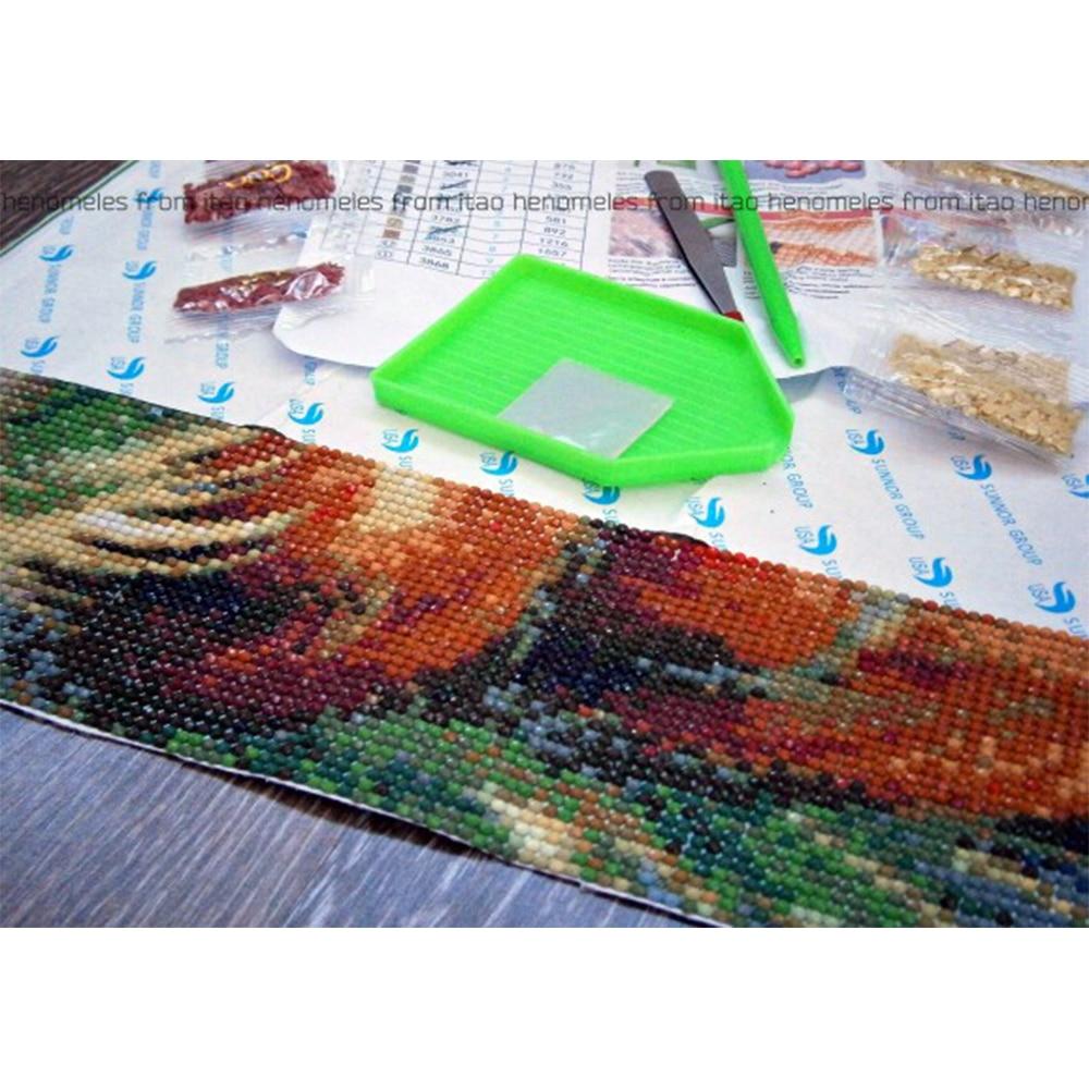 Pişik 100% DIY 5D Diamond Mozaika Heyvanı Əl Hazır Almaz Rəsm - İncəsənət, sənətkarlıq və tikiş - Fotoqrafiya 4