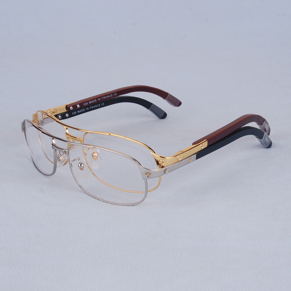 Energiek Vazrobe Brillen Frame Mannen Merk Bril Man Houten Been Recept Bril Goud Zilver Luxe Naam Lenzenvloeistof Hoge Kwaliteit Goedkope Verkoop 50%