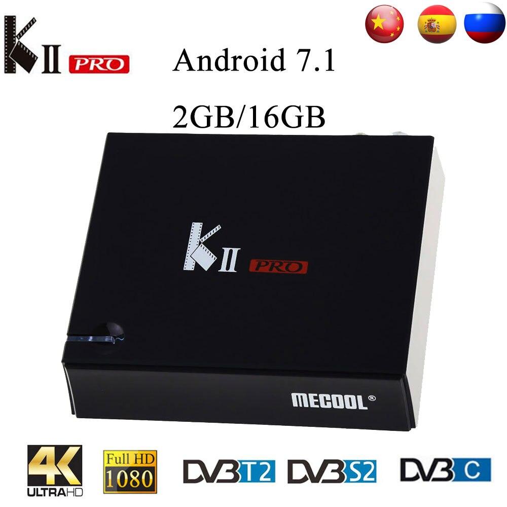MECOOL KII Pro DVB T2&S2 DVB C Android 7.1 TV Box Amlogic S905D Quad core BT4.0 2GB/16GB 2.4G/5G Wifi 4K Set Top Box Mini PC