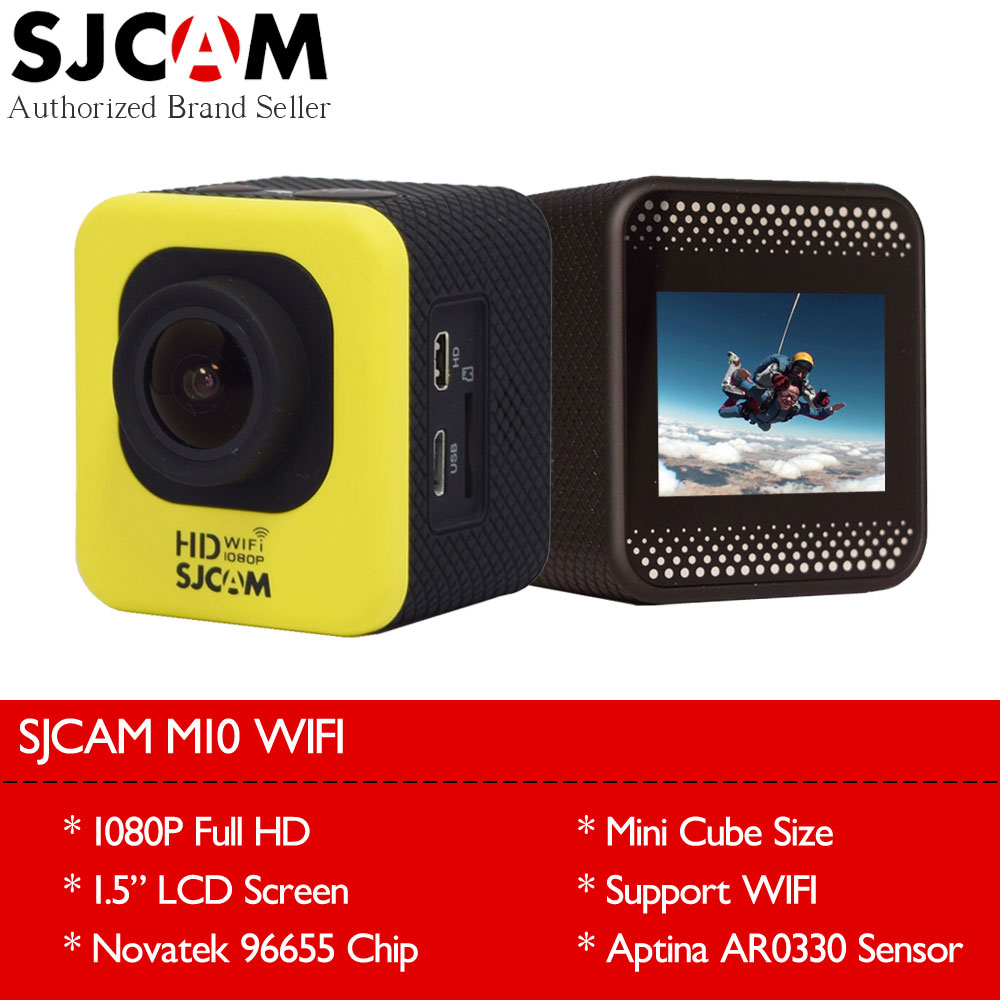 Original SJCAM M10 Wifi Action Camera SJ CAM M 10 Mini Cube 1080P Full HD Waterproof 30m Helmet Sport DV Car Dash Camcorder DVR original drift stealth 2 action camera motorcycle bike go bicycle pro helmet sport dv camera wifi mini camcorder smart moto dvr