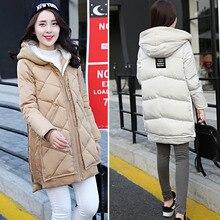 Plus size down cotton padded jacket medium long female maternity clothing thick wadded jacket mm tooling
