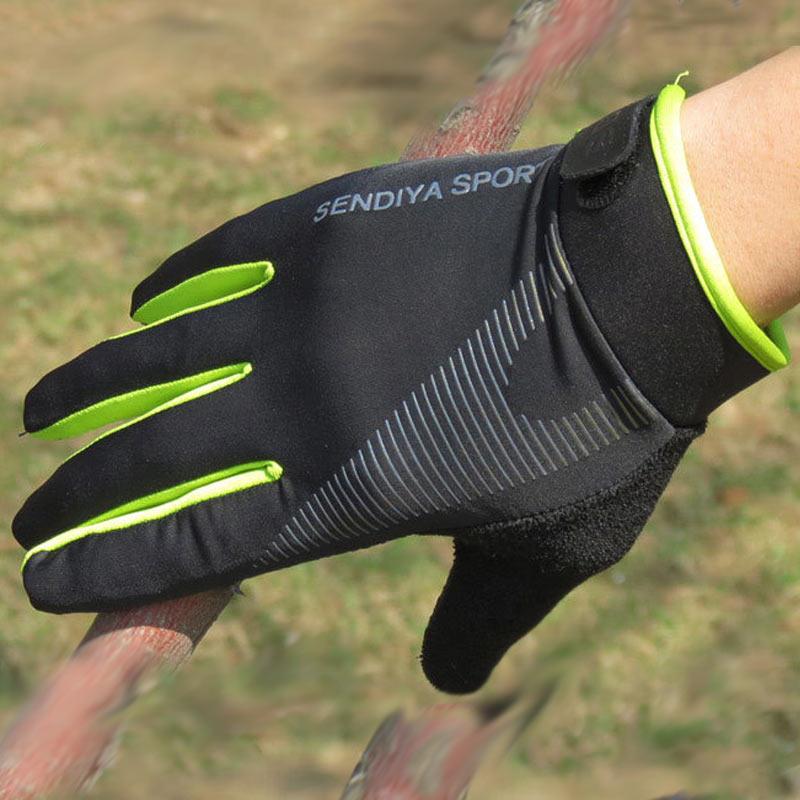running - Outdoor Running Gloves Full Finger Touchscreen Cycling Gloves Men Women Fitness Sport Breathable Summer Mittens Riding Gloves