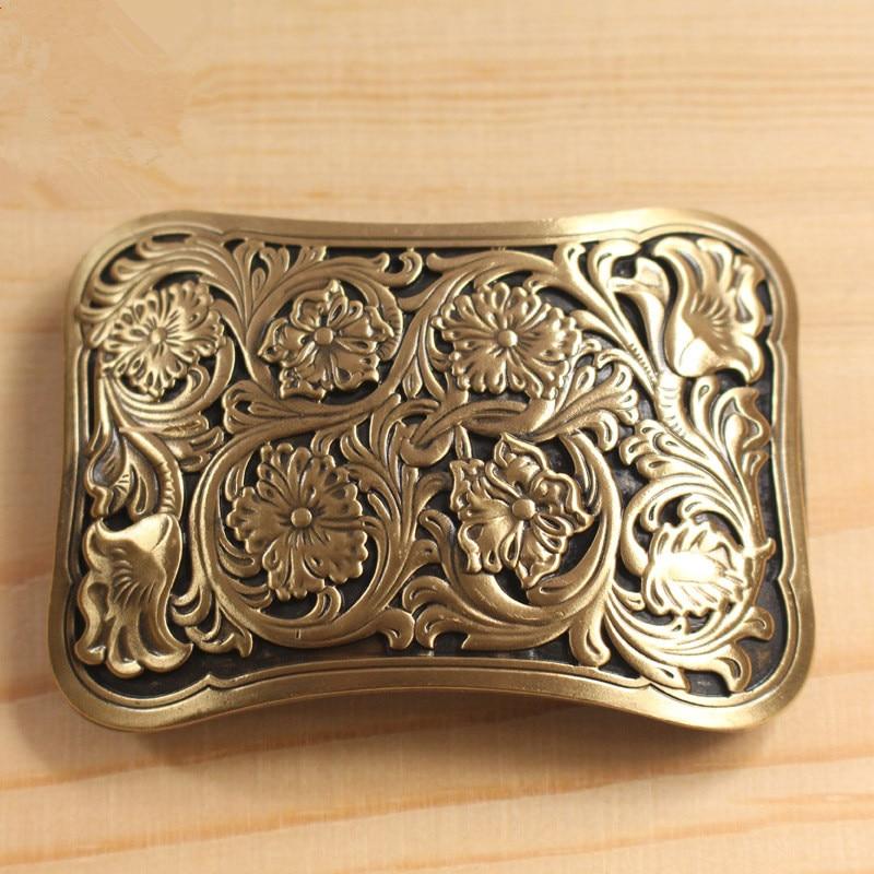 Solid Brass Belt Buckle Men Belt Diy Accessories Vintage Belt Buckles TOP Quality Retro Style Antique Mens Belts Luxury BK0031