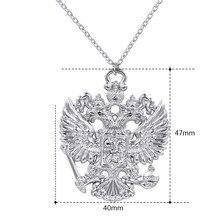 Российский герб двойной двух голового орла Цепочки и ожерелья эмблема России кулон