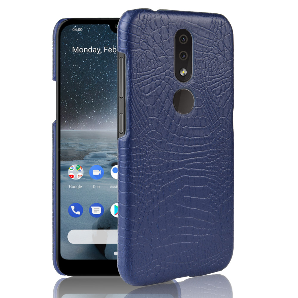 For <font><b>Nokia</b></font> <font><b>4.2</b></font> Case For Nokia4.2 Retro Luxury Crocodile PU Leather Skin Hard Protective Back Cover For <font><b>Nokia</b></font> <font><b>4.2</b></font> <font><b>Phone</b></font> Bag Coques image