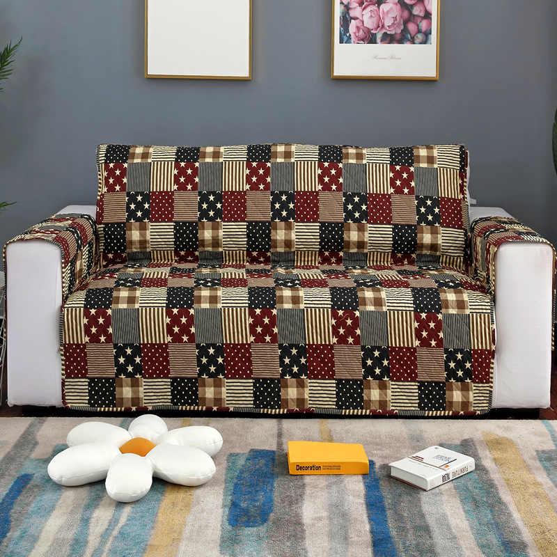 キルティングソファソファーリクライニングアームチェア椅子スローペット犬子供マット家具プロテクターアンチスリップソファ Slipcovers 1/ 2/3 シート