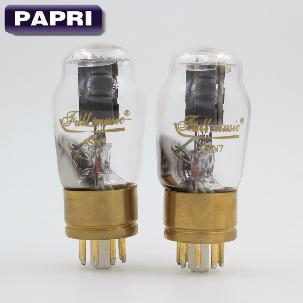 PAPRI Vacuum Tubes HIFI TJ Full Music For 6SN7/ECC32 Tube Replacement Gold Plated Pin DIY Audio Valve Preamplifier audio valve baldur 70 silver gold