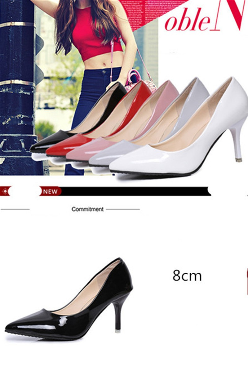 2016 Fashion Hot sale 5 colors PU Leather Pointed Toe High Heels Sexy shoes Office Shoes Women\'s Pumps HSB06 (9)