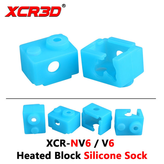 3D Printer Part XCR-NV6 Heated Block Silicone Sock V6 Hot end Nozzle Heat preservation of socks 1pc