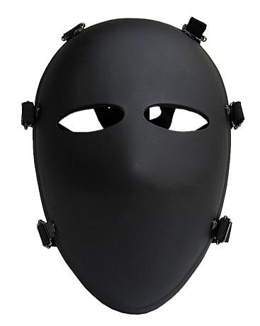 Militare 6 Punti Maschera a Pieno Facciale Maschera Antiproiettile NIJ IIIA.44 Balistico Maschera