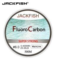 JACKFISH Горячая продажа 500 м фторуглеродная рыболовная леска 5-32LB тест углеродное волокно Leader Line 0,165-0,46 мм fly рыболовная леска pesca
