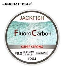 JACKFISH HOT SALE 500M Fluorocarbon Fishing Line 5 32LB test Carbon Fiber Leader Line 0 165