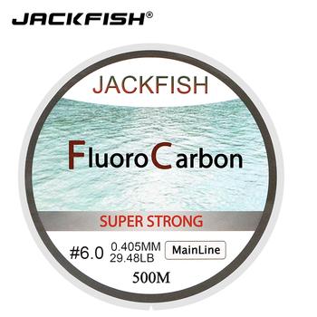 JACKFISH gorąca sprzedaż 500M żyłka wędkarska fluorowęglowa 5-32LB test linia lidera z włókna węglowego 0 165-0 46mm fly fishing Line pesca tanie i dobre opinie Rzeka Zbiornik staw Ocean beach fishing LAKE Morze łodzi rybackich Stream Ocean skała fshing JK-CLEAR-500M Poziom Linia zlewozmywak