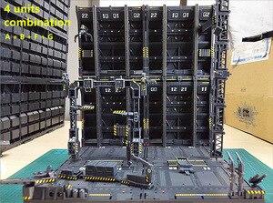 Image 4 - 반다이 건담 프리 콤비네이션 dc010 용 cg 유니버설 격납고 차고 프론트 라인베이스 장면